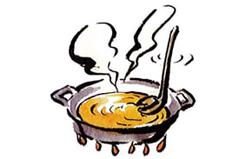 スープを準備